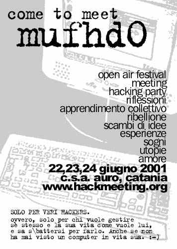 Manifesto dell'Hackmeeting 2001