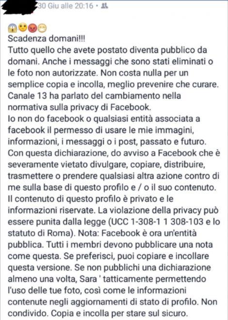 facebook avviso salvaprivacy 2016