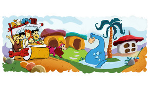 Google Doodle 50 anni Flintstones