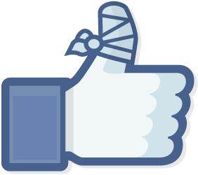 1 facebook broken thumb