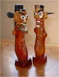 Totem coreani: secondo la tradizione, tengono lont