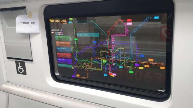 schermi trasparenti metropolitana