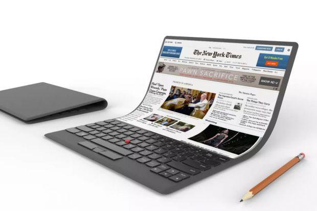 Il laptop di Lenovo che si arrotola come un tappetino