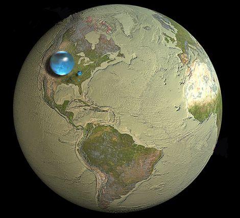 global water volume fresh large