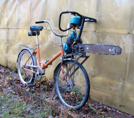 motosega bicicletta