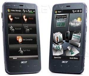 Acer Tempo smartphone Windows Mobile Google Androi