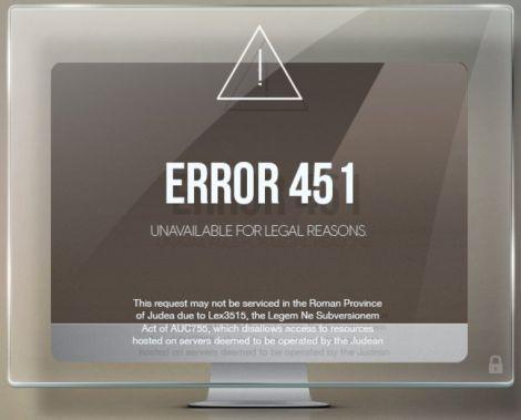 errore 451 censura