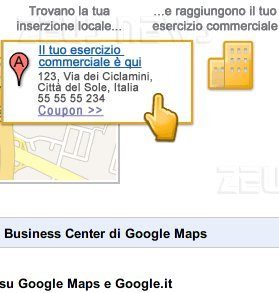Google maps business center screenshot