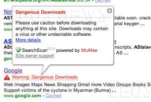 Yahoo: navigare sul sito di Google è pericoloso