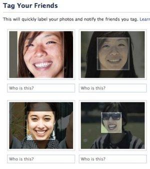 Facebook riconoscimento facciale tag amici
