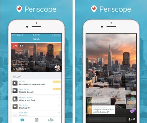 twitter periscope streaming live