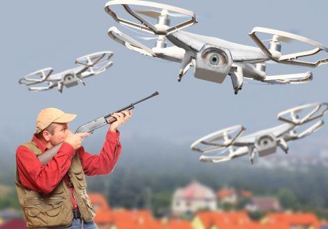 utah polizia spara drone