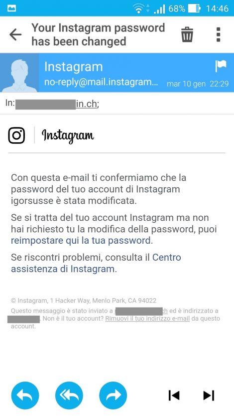 Aiuto, mi hanno rubato l'account Instagram