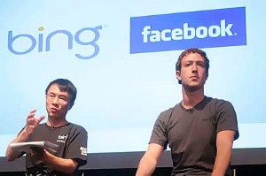 Microsoft Bing Facebook ricerca social mi piace