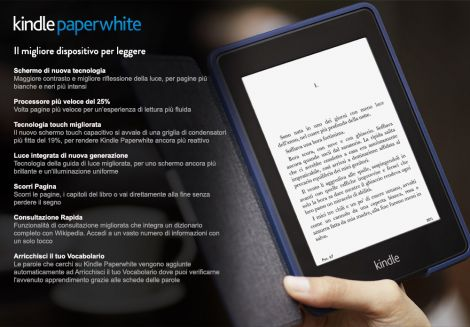 kindle paperwhite nuovo