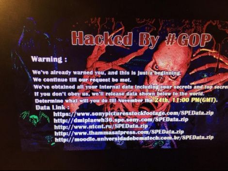 hacked by gop sony pictures under attack