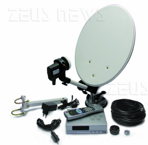 kit tv satellitare da viaggio