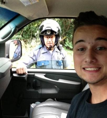 selfie polizia