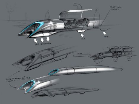 musk hyperloop sketches