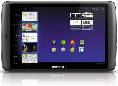Archos 101 80 G9 tablet Android 3.2 250 Gbyte disk