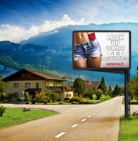 pubblicità Geneva Svizzera