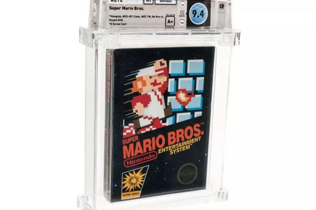 super mario bros cartuccia asta record