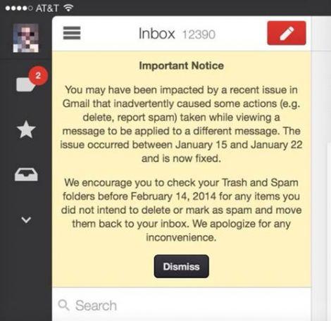 gmail bug