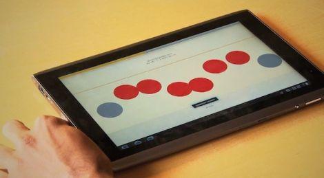 touchscreen braille writer