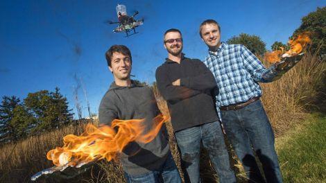 drone incendiario