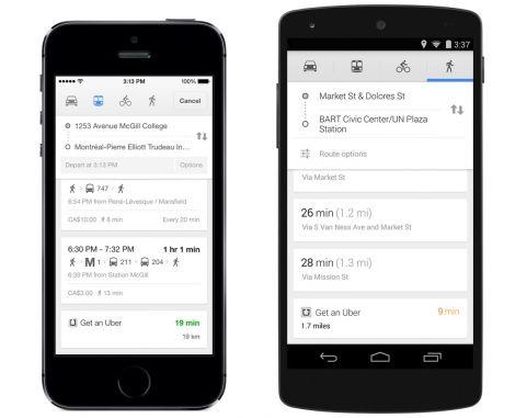 Uber Google Maps