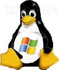Pinguino Tux marchiato Microsoft
