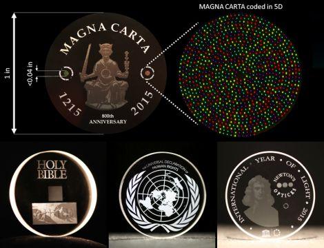 Dischi di vetro 5D dureranno 14 miliardi di anni