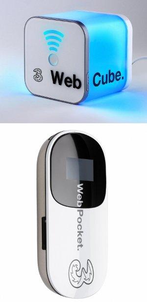 WebCube e WebPocket 3 Italia WebFamily HSPA e Wi-F