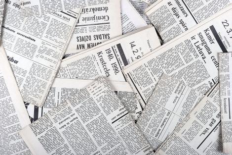 vecchi giornali butanolo