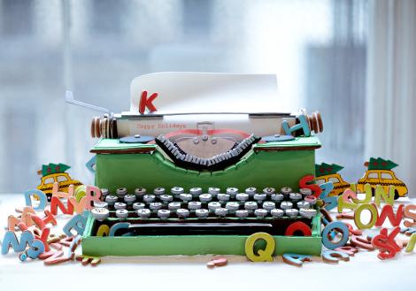 gingerbread typewriter