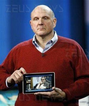 Microsoft Hp tablet Steve Ballmer Ces Las Vegas