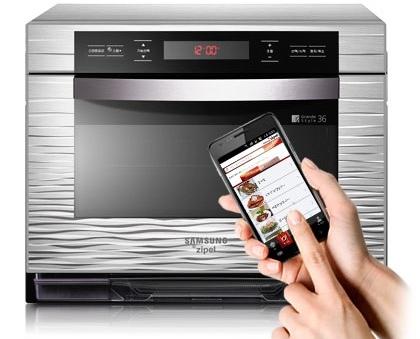 Samsung Ziper smart oven forno smartphone android