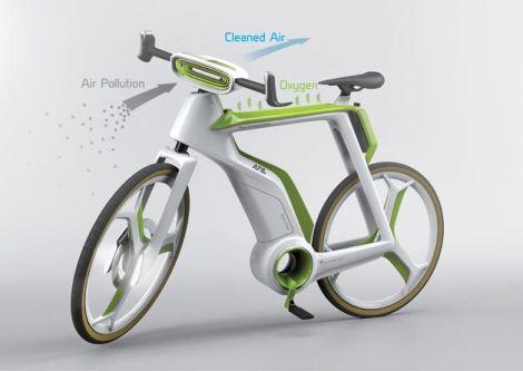 bicicletta purifica aria