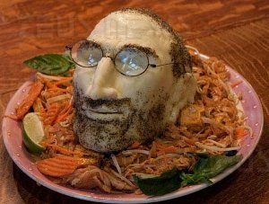 Steve Jobs testa formaggio