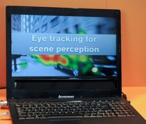 Tobii Lenovo notebook eye tracking