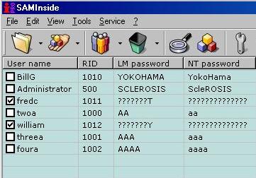 software per il recupero delle password