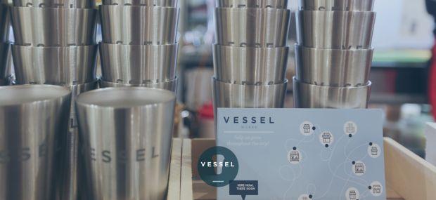 Vessel tazza acciaio riutilizzabile