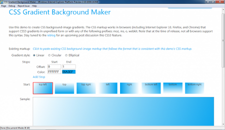Internet Explorer 10 Platform Preview 1 Microsoft