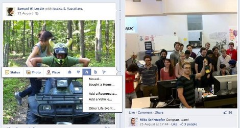 Facebook Timeline diario album ricordi