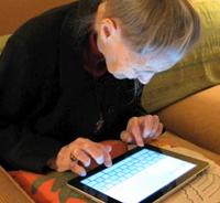 Virginia Campbell iPad leggere scrivere limerick