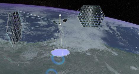 cina centrale solare spaziale