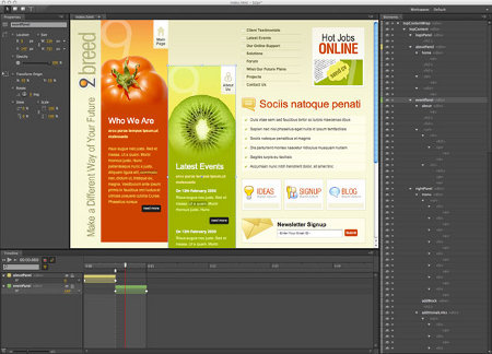 Adobe Edge HTML 5 CSS 3 JavaScript Flash