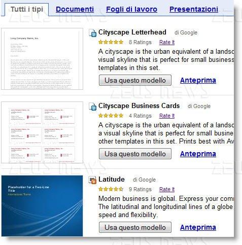 template google docs