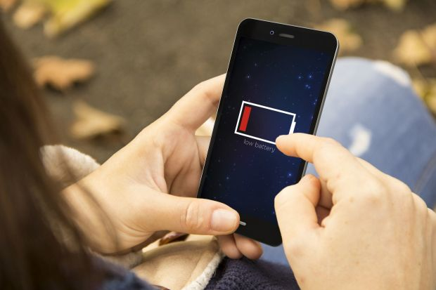 smartphone batteria app background