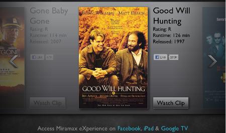 Miramax eXperience app Facebook iPad streaming fil